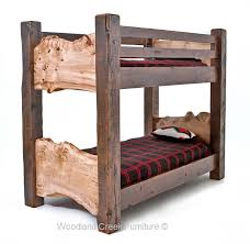 Barnwood Bunk Beds Rustic Bunk Bed Barn Wood Live Edge