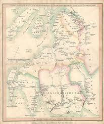Road Map Of Scotland Dumfries Glasgow Greenock Scotland Antique Road Map Frontispiece