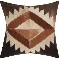 western throws for sofas mina victory dallas western brown throw pillow 20 inch x 20