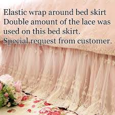 Wrap Around Bed Skirts Lace Bed Skirt
