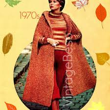 vintage knitting patterns 1970 crochet and knit