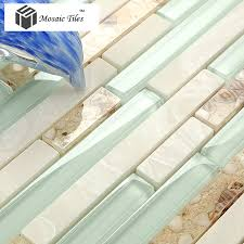 Stone Glass Tile Backsplash by Tst Glass Conch Beach Style Mother Of Pearl Tile Resin Glass Tile