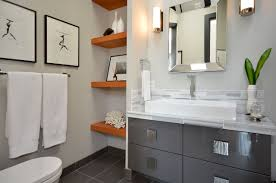interior design inspiring unique corner storage design ideas with cool bathroom design with elegant bathroom cabinets and lenova sinks plus mirrored vanity also oak floating
