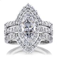 marquise cut wedding set padgett s marquise cut cz wedding ring set ring guards