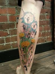 splattered dandelions by arlin ffrench at gastown tattoo tattoos