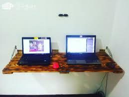 Computer Wall Desk Wall Mount Folding Pallet Table U2022 1001 Pallets