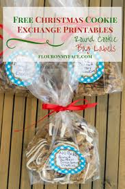 easy cookie exchange packaging free printable round labels flour