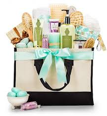 high end gift baskets gift basket high end spa gift tote giftbasketvillas