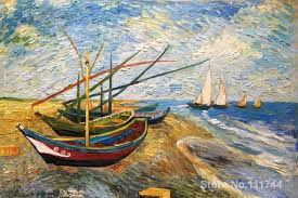 vincent van gogh bedroom famous art for bedroom fishing boats on the beach at saintes maries