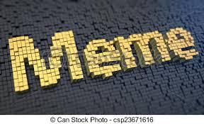 Meme Clipart - meme cubics word meme of the yellow square pixels on a clipart