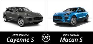 porsche macan and cayenne 2016 porsche comparison the macan s vs the cayenne s