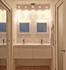 delighful bathroom lighting ideas double vanity white cabinets