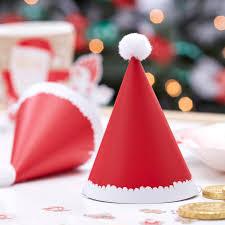 pom pom cuisine mini santa pom pom hats by