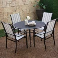 Black Rod Iron Patio Furniture Furniture Wrought Iron Outdoor Dining Table With Chair Using