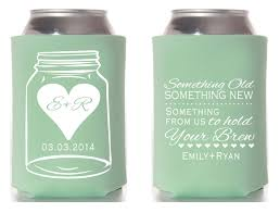 wedding koozies jar wedding something something new wedding favors