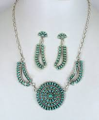 vintage turquoise silver necklace images Vintage native american sterling silver and turquoise petit point jpg