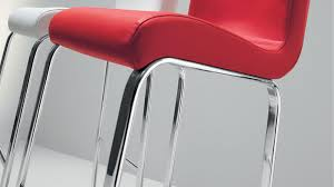 bar stool in stylish italian leather fixed height home or