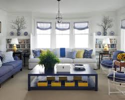 blue and white living room decorating ideas home interior design