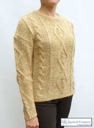 women u0027s chunky cable knit jumper for ladies mustard sweater the