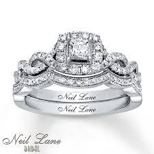 neil bridal set neil bridal set 3 4 ct tw diamonds 14k white gold neil