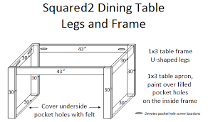 Simple Dining Table Plans White Squared2 Dining Table Diy Projects