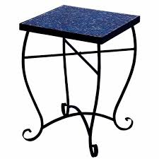Mosaic Accent Table Moroccan Mosaic Blue Square Side Accent Table Free Shipping