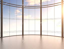 Office View by Modern Office Interior And Sky View Stock Photo Picture And