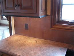 kitchen backsplash sheets copper sheet backsplash kitchen copper sheets copper and