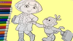 dora the explorer coloring pages dora goes to coloring