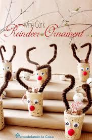 remodelando la casa wine cork reindeer ornament