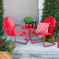 Spring Chairs Patio Furniture Coral Coast Vintage Retro 3 Pc Spring Chair Chat Set Hayneedle