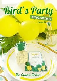 bird u0027s party magazine summer edition 2017 party ideas