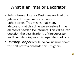 what is an interior decorator what is a interior decorator