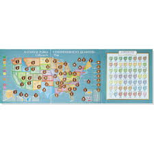 Map Of United States National Parks by National Parks Commemorative Quarters Collector U0027s Map 2010 2021