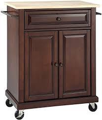 mahogany kitchen island amazon com crosley furniture cuisine kitchen island with
