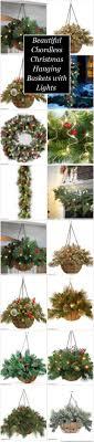 christmas hanging baskets with lights beautiful chordless christmas hanging baskets with lights