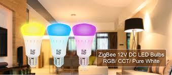 dc input e27 12v 6w color changing zigbee wifi smart led light