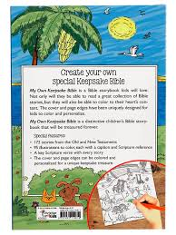 my own keepsake bible a kids bible storybook to color christian
