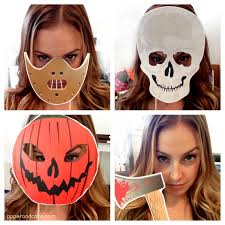 halloween horror printable photo booth props an easy dress up