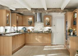 light oak shaker kitchen cabinets fairford light oak shaker style kitchen traditional