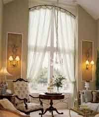Arch Window Curtains Arched Window Treatment Using Lace Curtains From Olde Worlde Lace