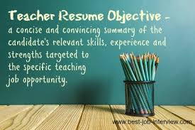 Teacher Resume Objective Samples by Teaching Resume Objective Samples
