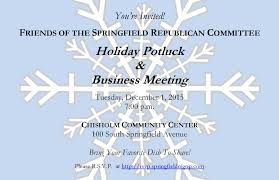 holiday potluck u0026 business meeting springfield republican committee