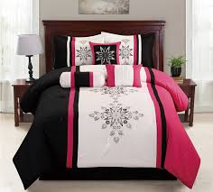 10 Pc Comforter Set Pink And Black Bedding Sets U2013 Ease Bedding With Style