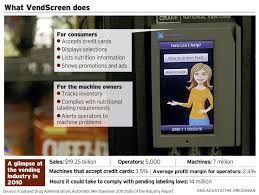 Vending Machine Inventory Spreadsheet Portland Based Vendscreen Dispenses A Digital Vending Industry