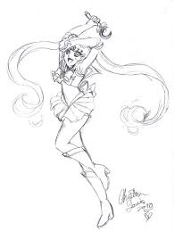 sailor moon sketch by chrisseh chan on deviantart