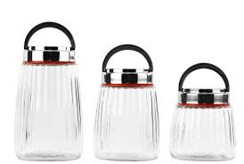glass canister set bathroom glass kitchen canisters idea also