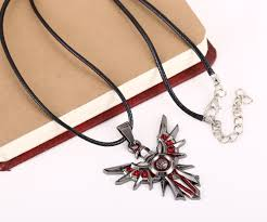 charm drop necklace images Mosu hot game league of lol leona shield metal necklace can jpg