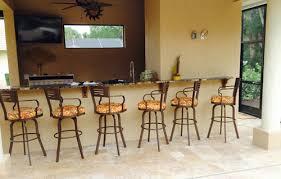 out door bar stools outdoor 34 inch aluminum bar stool extra tall with arms alfa