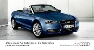 audi a5 mmi 2013 manual 2013 audi a5 cabriolet s5 cabriolet u2014 quick reference guide u2013 16